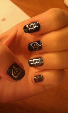 Blue and silver hearts! :)