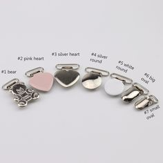 127737375 35mm Oval Round Stainless Steel Silver Suspender Clip Baby Metal Pacifier  Clip