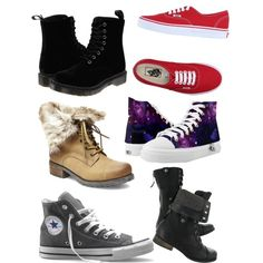 Fav?? by isabella19-1 on Polyvore featuring Dr. Martens, Steve Madden, Converse and Vans