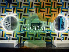 Mosaico de pasta Studio Victoria. Modelo Zaha Hadid Proyecto: Cantina La Comisaría.  Guadalajara, Jalisco México.  Diseño mosaicos: División de diseño Studio Victoria