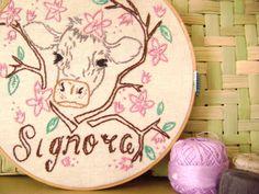 Signor - Signora Embroidery Pattern (Couple). $4.00, via Etsy.