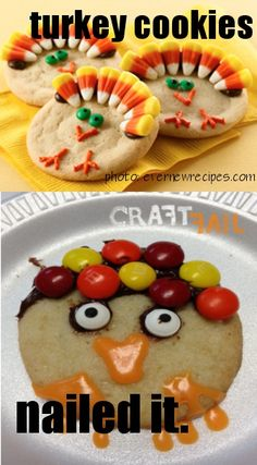 Thanksgiving turkey sugar cookies
