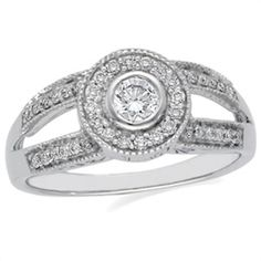 1/2 ct tw Vintage Diamond Engagement Ring | Matthew Erickson Jewelers