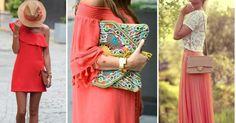 Outfits en color coral, ¡ideal para primavera!