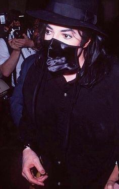 Michael Jackson with a surgical mask AKA hot asf