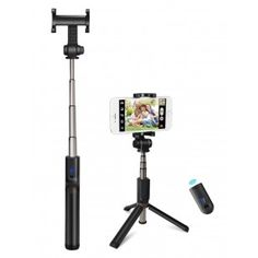 ON SALE NOW - Only 10 left - Kungfuren Aluminum Selfie Stick Tripod for iPhone Tripod Stand - ALUMINUM BLUETOOTH SELFIE STICK TRIPOD WITH REMOTE AND IPHONE TRIPOD STAND Portable Bluetooth remote control 2 in 1 aluminum selfie stick tripod stand iPhone 7.