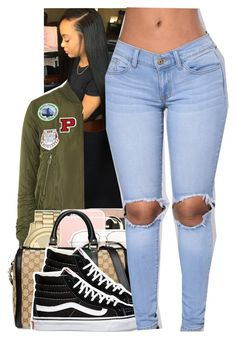 """Untitled #1533"" by toniiiiiiiiiiiiiii ❤ liked on Polyvore featuring WearAll, Topshop, Michael Kors, Gucci and Vans"