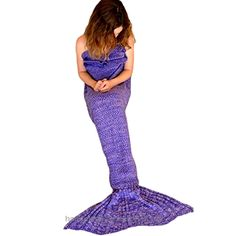 ONEPACK Mermaid Tail Crochet Blanket,Handmade Mermaid Blanket for Child, Super Soft Comfortable for All Seasons Sleeping Reading Watching Working Sofa Camping Blankets(Child,56″x 25.6″Purple)  Check It Out Now     $19.99     Features:   ★ One beautiful soft and warm Shimmertail mermaid blanket with sparkle scales.  ★ Super Large Perfect gi ..  http://www.handmadeaccessories.top/2017/03/16/onepack-mermaid-tail-crochet-blankethandmade-mermaid-blanket-for-child-super-soft-comfortab..