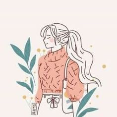 Korean Illustration, Cute Illustration, Digital Illustration, Film Disney, Anime Art Girl, Flat Design, Aesthetic Art, Easy Drawings, Cartoon Art
