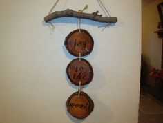 Cute rustic christmas decor, Take our wood burner and burn word in the wood.