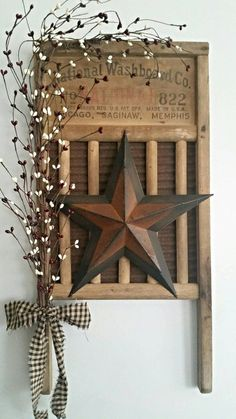Check out this item in my Etsy shop https://www.etsy.com/listing/285599583/rustic-primitive-vintage-washboard-decor