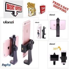 Adjustable Smartphone Tripod Adapter Cell Phone Holder Mount For iPhone Samsung #Ulanzi