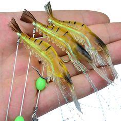 Proberos 5pcs 5.4g 8.65cm Soft camarones pesca señuelo Gancho realista pesca cebo