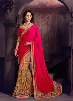 Distinctively Patch Border Work Designer Saree