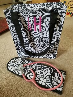 "The perfect Nursing bag and stethoscope holder. Thirty-One ""Tall Organizing tote"" and ""Style Sleeve"". Get them here: www.mythirtyone.com/lisahenderson"