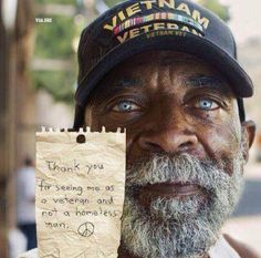 If you know a veteran who's homeless and struggling - Volunteers of America currently operates the 'Homeless Veterans Reintegration Program (HVRP) in CA, FL, IL, MI, MT, OH, TN, and WV - to help vets get back on their feet.