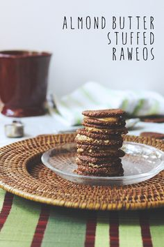 Raw Vegan Almond Butter Stuffed Raweos #GlutenFree #RefinedSugarFree