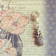 Necklace Dangle Charm Drop  pineapple by DanglesbyDesign on Etsy, $2.95
