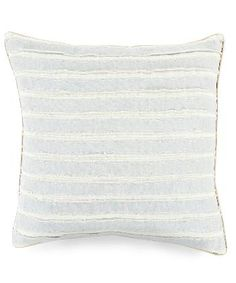Surya Squares Pillow - Ivory and Light Grey