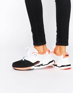 New+Balance+Black+White+&+Pink+530+Trainers