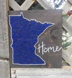 Minnesota string art home state sign by HeartStringsbyMeg on Etsy