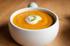 Sweet Potato Coconut Soup Recipe - sounds good! I'm game!