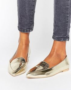 Search for gold shoes at ASOS. Shop from over styles, including gold shoes. Discover the latest women's and men's fashion online Gold Prom Shoes, Metallic Gold Shoes, Gold Ballet Flats, Gold Flats, Latest Fashion Clothes, Fashion Shoes, Fashion Online, Women's Fashion, Asos