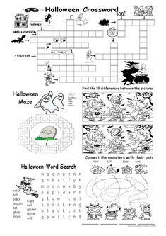 Halloween Different games worksheet - Free ESL printable worksheets made by teachers