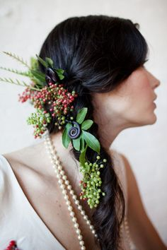❀ Flower Maiden Fantasy ❀ beautiful photography of women and flowers - Floral braid.
