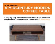 Mid Century Modern Coffee Table Download Plans