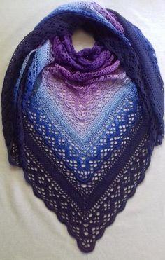 This shawl design is dedicated to the memory of Klaziena McKinlay Swanson (nee Greve) — beloved mother of Sharon Hill of the Southside Sweeties Crochet Group, Beenleigh Bowls Club.Knitting Patterns Shawl Ravelry: Klaziena Shawl pattern by Kirsten Bishop Diy Tricot Crochet, Poncho Crochet, Crochet Bolero, Crochet Shawls And Wraps, Crochet Scarves, Crochet Clothes, Crochet Hats, Ravelry Crochet, Crochet Shawl Diagram