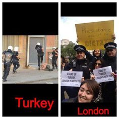 Turkish tadical islamic police against London police