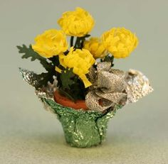Make a Miniature Dolls House Chrysanthemum Plant By Lesley Shepherd, About.com Guide