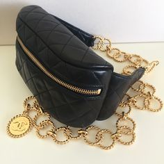 Vintage CHANEL Waist Bag with chain belt