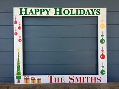 Christmas Photobooth, Photo Booth Frame Prop, Custom Holiday Photobooth, Wood Frame Prop