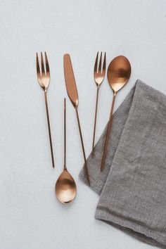 High-End Copper Flatware Rentals for Weddings & Events - GREYSTONE TABLE Kitchen Items, Kitchen Utensils, Kitchen Decor, Kitchen Tools, Kitchen Gadgets, Kitchen Dining, Ceramic Tableware, Kitchenware, Copper Silverware