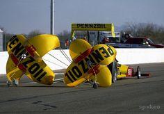 NHRA top fuel dragster driver Eddie Hill during pre season testing .