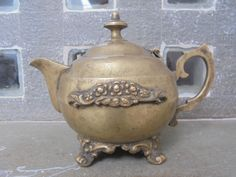 1940's Indian Brass Tea Chai Pot from Rajasthan. by Lallibhai on Etsy