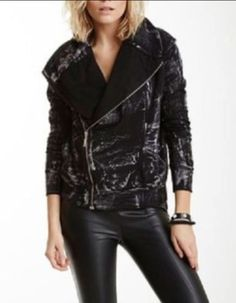Young Fabulous and Broke Moto Jacket Asymmetric Kayla Brushstroke Black  #YoungFabulousBroke #Motorcycle