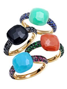 beautiful, I want the coral and emerald!