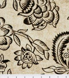 sale $6.49  45'' Home Essentials Print Fabric-Bircham/Onyx: home decor fabric: fabric: Shop | Joann.com