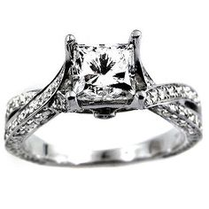 12ct certified princess cut diamond engagement ring