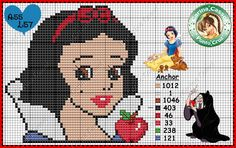 Snow White perler bead pattern by Carina Cassol - http://carinacassol.blogspot.com.br/