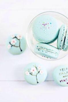 Tiffany blue macaroons