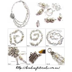 Tutorials | Vintage Pearl Crystal Necklace | Beading & Jewellery Making Tutorials