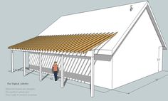 Intersecting roof plane rafters for a porch roof