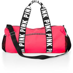 PINK Duffle Bag (£20) ❤ liked on Polyvore featuring bags, luggage and pink
