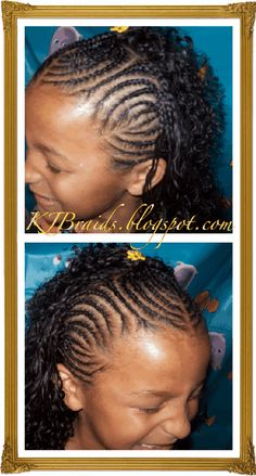 Cornrow Braid Styles | KJ Braids: Half Designer Cornrows