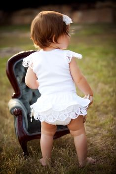 Cute Little Girl with Her Pretty Chair