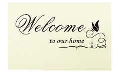 Welcome Quotes Wall Sayings  Wall Quotes Sayings Phrases For Walls Vinyl .